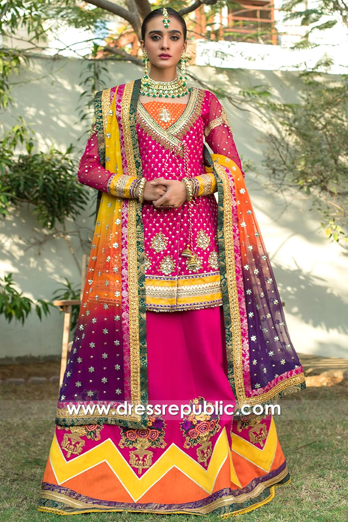 DR15757 Bridal Dress for Mehandi 2020, Mehndi Bridal Lehenga, Henna Bridal 2020