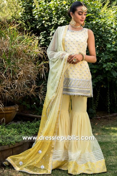 DR15767 Mehndi Mayoon Henna Designer Dresses 2020 Collection UK Buy Online