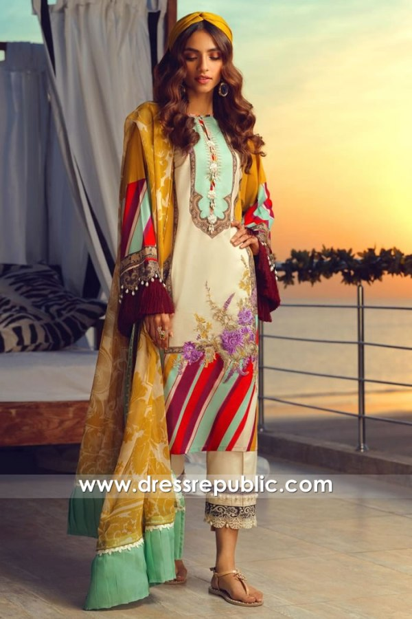 DRP1051 Sana Safinaz Muzlin 2020 Pakistani Lawn Suits Wholesalers UK