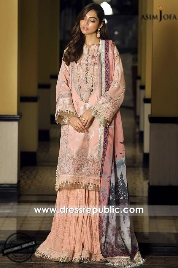 DRP1123 Asim Jofa Luxury Lawn 2020 Chicago, Detroit, Columbus, Phoenix, Denver