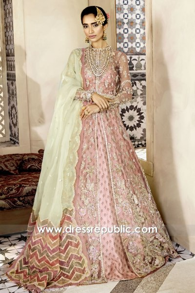 DR15771 Latest Pakistani Engagement Bridal Dress 2020 Collection Buy Online