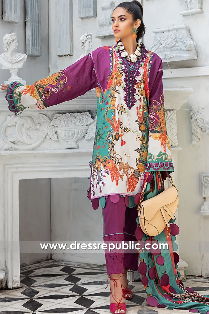 DRP1181 Pakistani Lawn Suits 2020 by Zaha Buy in Leicester, Sheffield, Liverpool