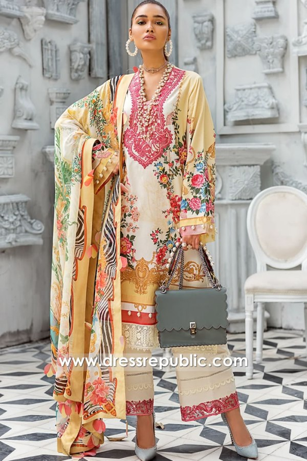 DRP1191 Pakistani Printed Lawn Suits By Zaha USA, Canada, UK, Australia