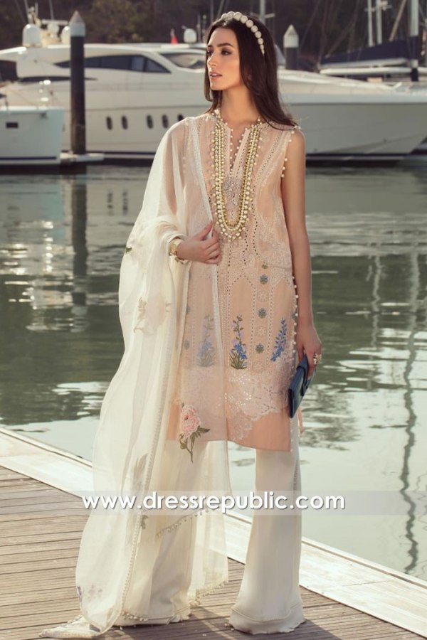 DRP1283 Sana Safinaz Luxury Lawn 2020 France, Germany, Switzerland, Italy