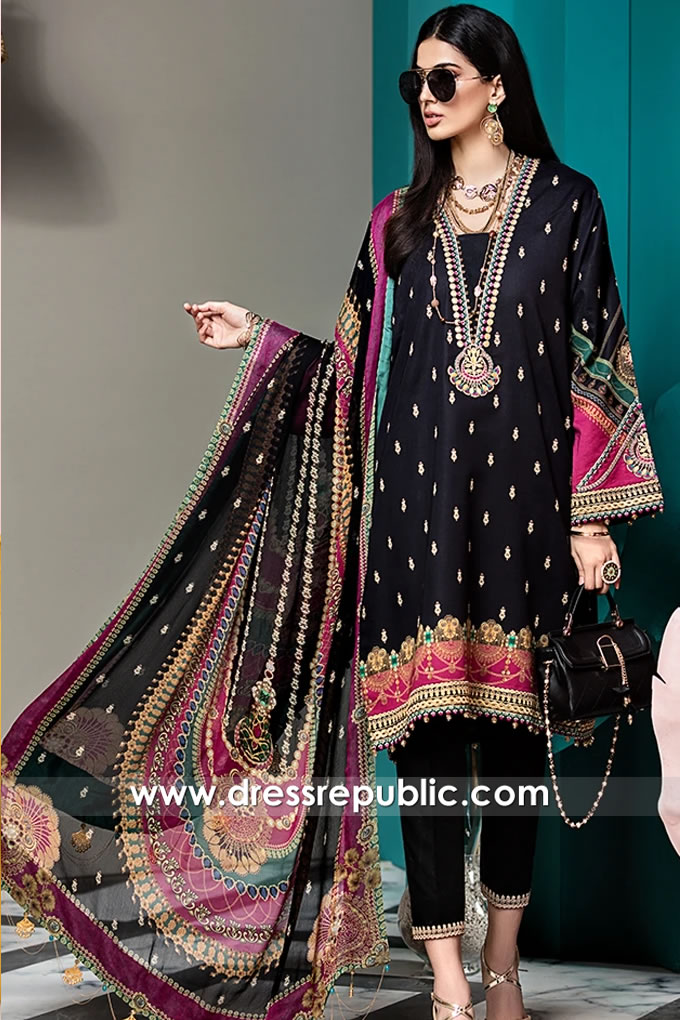 DRP1513 Pakistani Designer Lawn Suits Buy Online in USA With Stitching Price