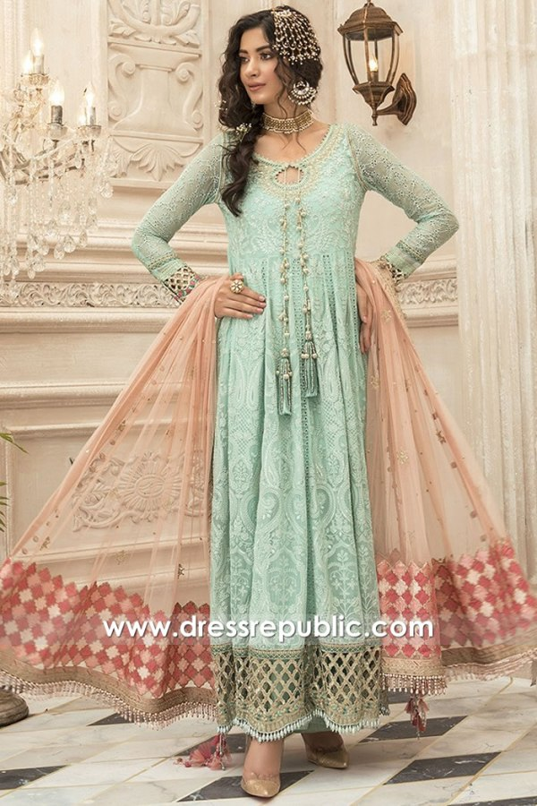 DRP1620 Maria B Mbroidered Eid 2020 Buy Online UAE, Saudi Arabia, Kuwait, Qatar