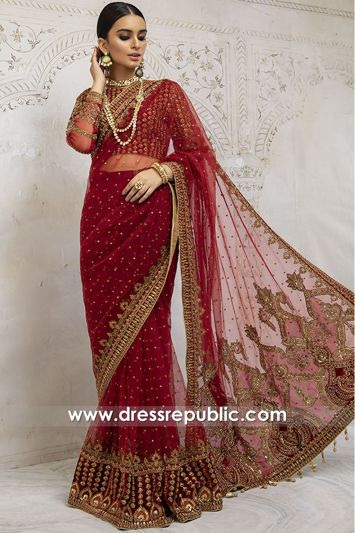 DR15895 Pakistani Designer Sarees 2020 Online Shopping USA, Canada