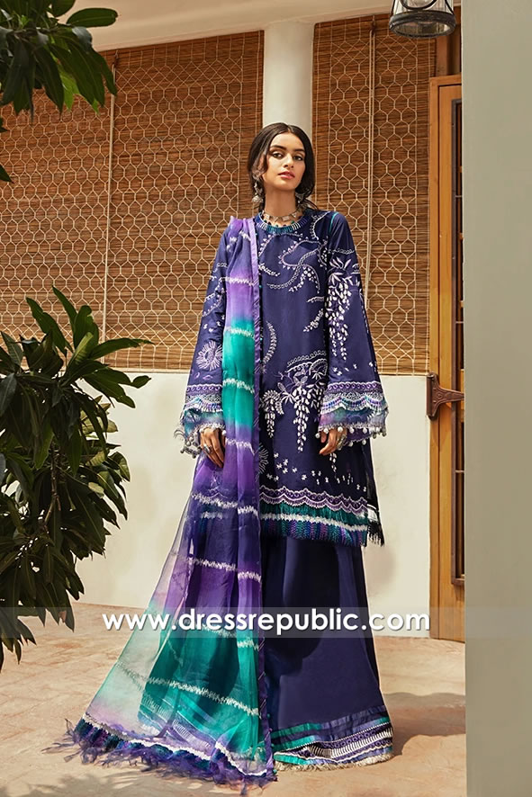 DRP1703 Vaada Lawn Suits for Eid Buy Shalwar Kameez Online in USA