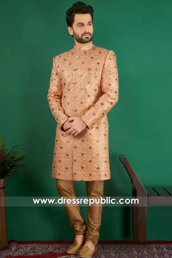 DRM5522 Indian Designer Sherwani, Jodhpuri, Bandhgala, Sherwani Online Canada