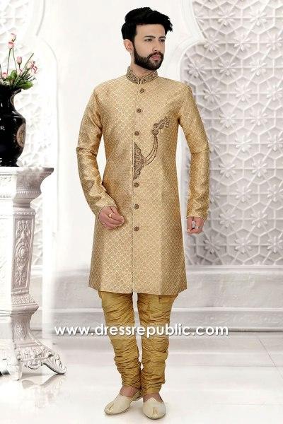 DRM5523 Indian Designer Sherwani, Jodhpuri, Bandhgala, Sherwani Online UK