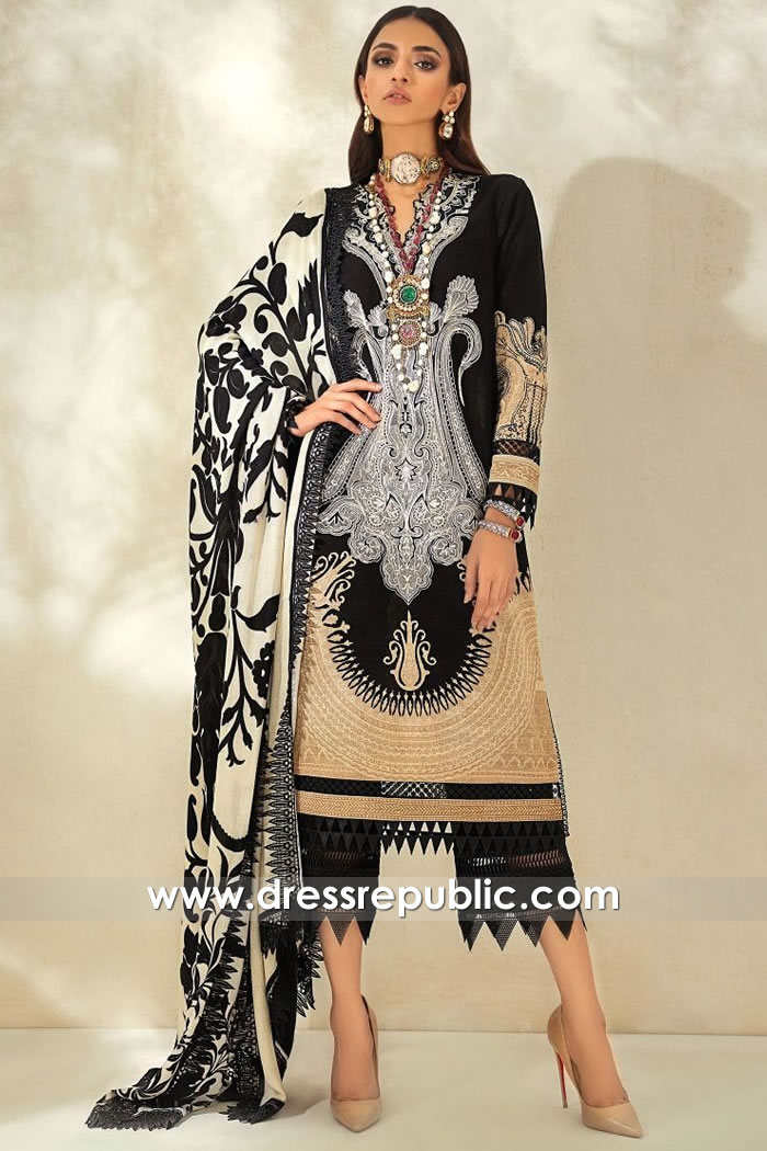 DRP1852 Sana Safinaz Muzlin Winter 20 Buy Online in Los Angeles, California