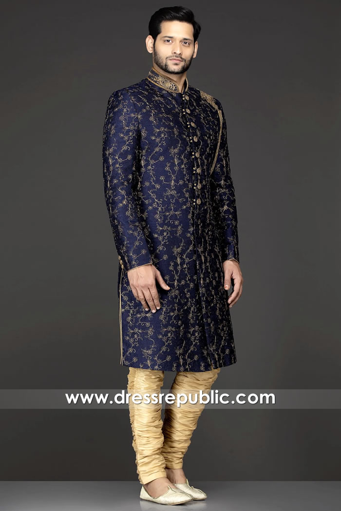 DRM5528 Junaid Jamshed Sherwani 2020 Buy in New York, California, Texas, USA