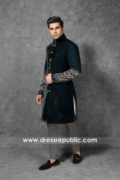 DRM5555 Wedding Men Sherwani 2020 - 2021 Collection Saudi Arabia, UAE, Qatar