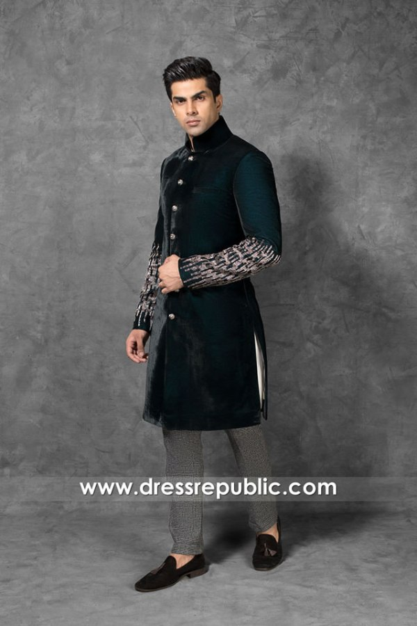 DRM5555 Wedding Men Sherwani 2020 - 2021 Collection Saudi Arabia, UAE, Qatar