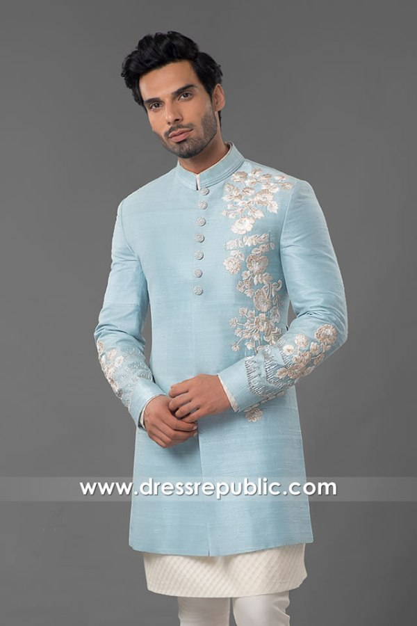 DRM5557 Stylist Wedding Sherwani Buy in Bristol, Cardiff, Belfast, Bath, Slough, UK