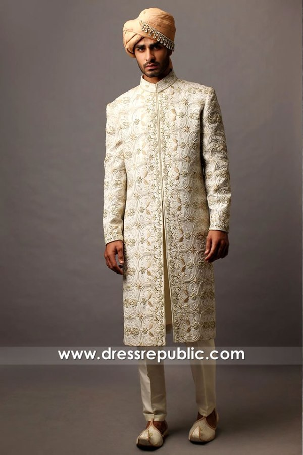 DRM5569 Traditional Sherwani with Turban and Kurta Pakistani Designer 2021