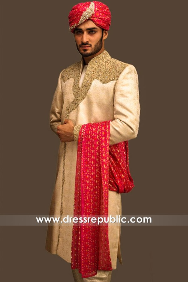 DRM5577 Pakistani Groom Sherwani Karachi, Lahore, Islamabad, Faisalabad, Multan