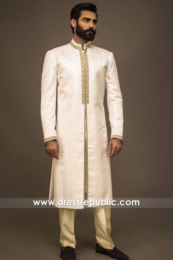 DRM5579 Indian Wedding Groom Sherwani Hicsksville, Jackson Heights, New York