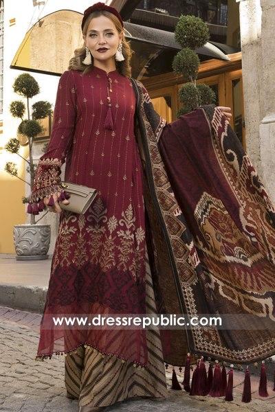 DRP2055 Maria B Linen Winter 20 Buy in Saudi Arabia, UAE, Qatar, Oman, Bahrain