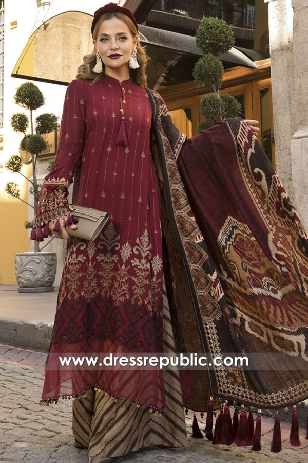 DRP2055 Maria B Linen Winter 20 Buy in Saudi Arabia, UAE, Qatar, Oman, Bahrain