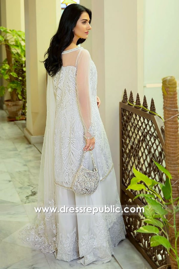 DR15982b Saira Khan White Dress