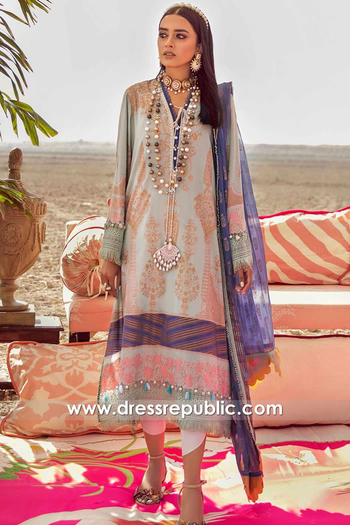 DRP2221 Sana Safinaz Lawn Suits With Stitching Buy in New York, New Jersey