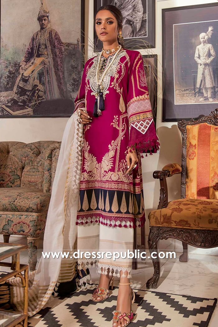DRP2224 Sana Safinaz Lawn Suits For Summer 2021 Collection Buy Online in UK