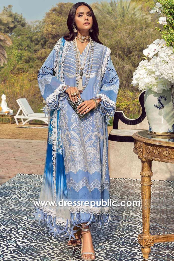 DRP2232 Pakistani Lawn Suits Brand Sana Safinaz | Muzlin 2021 Collection Online
