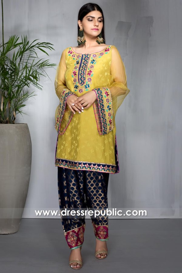 DR16018 Designer Shalwar Kameez Eid 2021 Collection Online Shop Canada