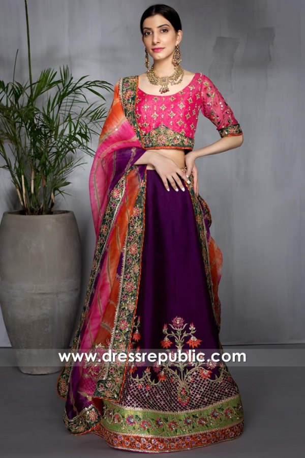 DR16027 Mehndi Brides Lehenga Choli for Mehndi, Bridal Lehenga for Mehndi 2021