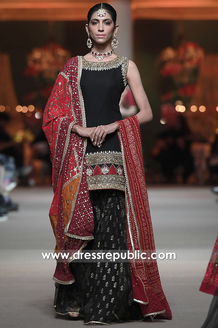 DR16050 Pakistani Fashion 2021 Special Occasion Gharara Style for Mehndi Bride