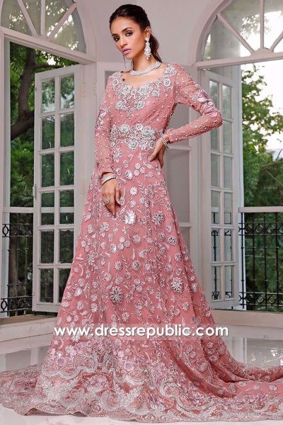 DR16066 Zainab Chottani Long Gowns With Floral Work Buy Online in UK, USA