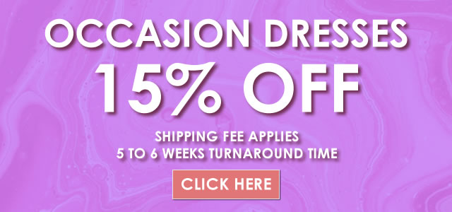 15% OFF Occasion Dresses at Bridal Couture Week 2021
