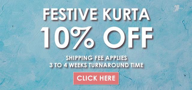 15% OFF Festive Kurta at Bridal Couture Week 2021