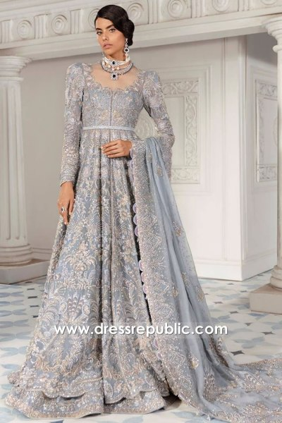 DR16070 Empire Line Wedding Gown in Lilac Hand Embellished USA, UK, Canada
