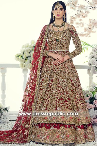 DR16075 Deep Red Wedding Dress Buy Online in Toronto, Mississauga, Canada