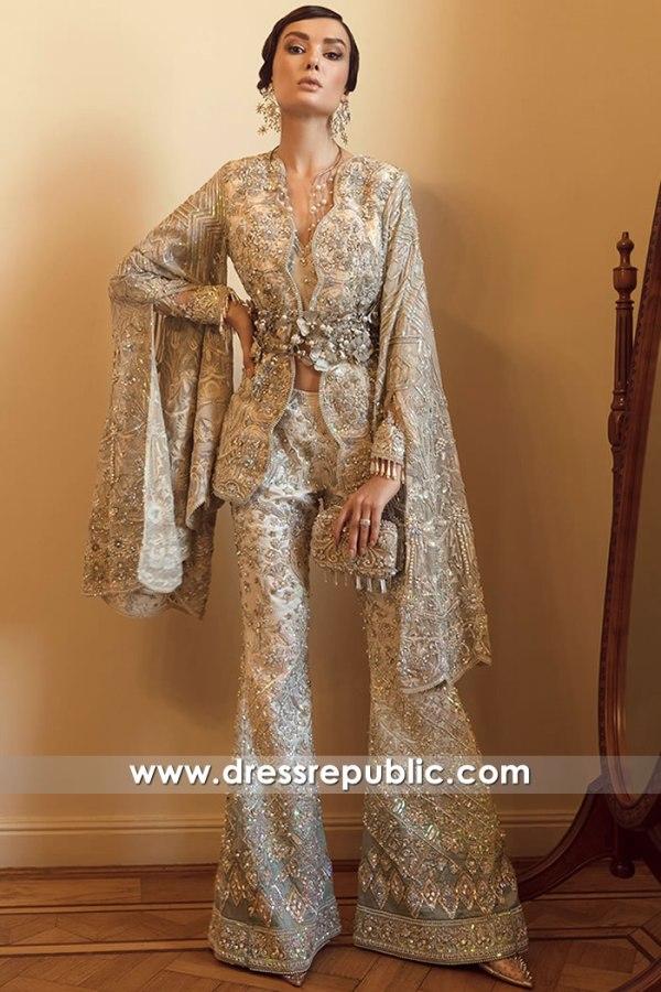 DR16123 Western Style Pakistani Designer Dress Jacket, Pants Buy Online Shop