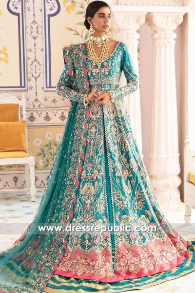 DR16125 Teal Green Designer Lehenga for Desi Bride in New York, California, USA