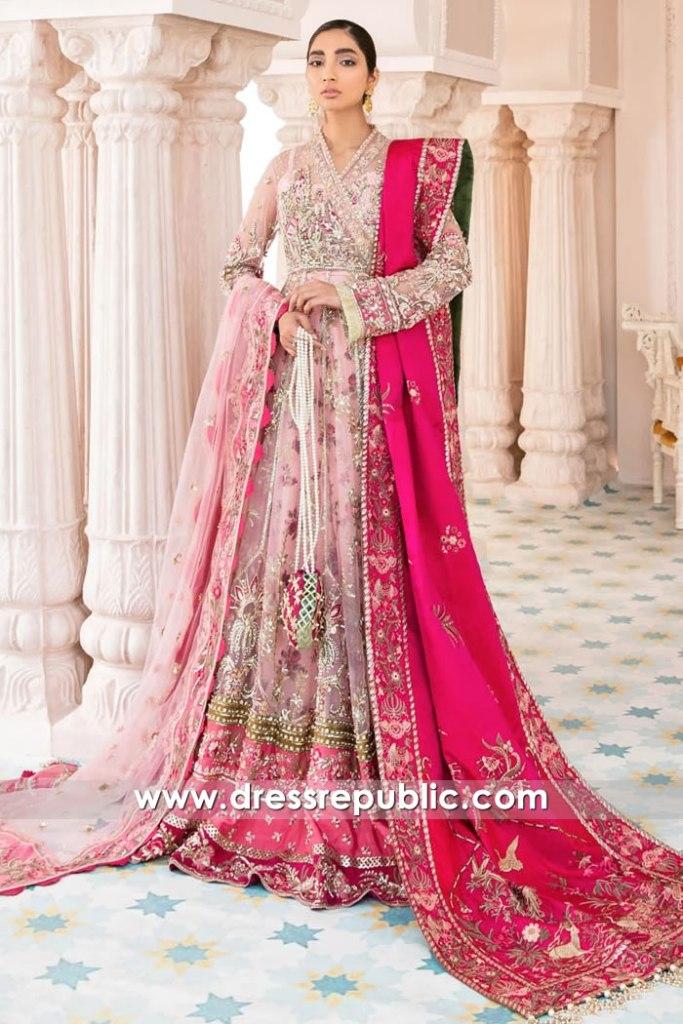 DR16126 Pink Bridal Dresses by Pakistani Designers under $2,000 Buy Online