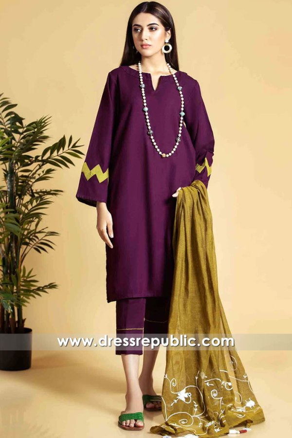 DR16135 Pakistani Casual Dress Designs 2021 Online Shopping in UK & Europe