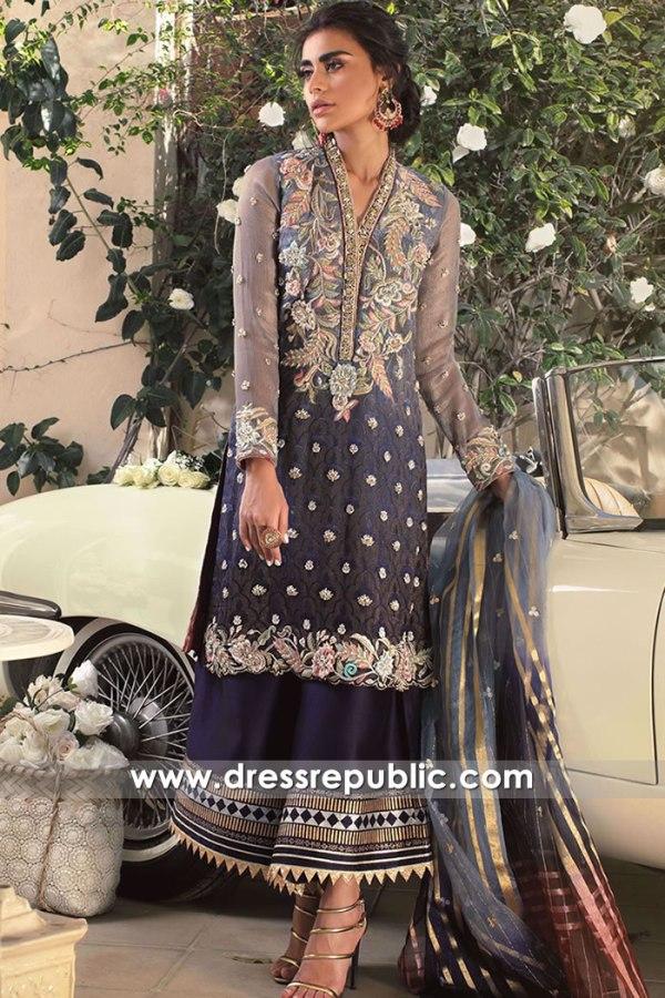 DR16149 Pakistani Designer Party Wear Dresses 2022 Collection Online USA