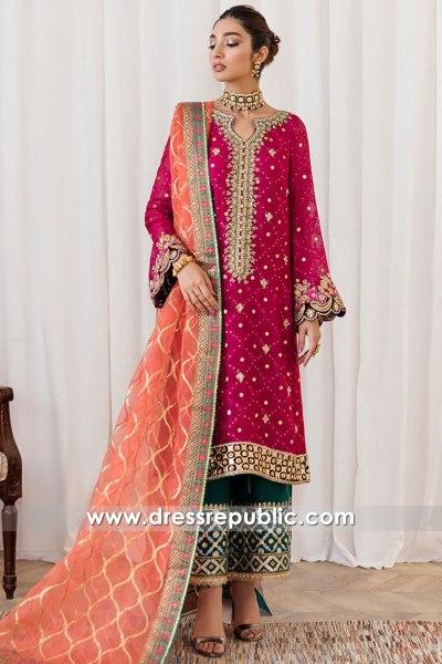 DR16171 Pakistani Designer Dresses for Mehndi Henna Mayoon 2021 2022
