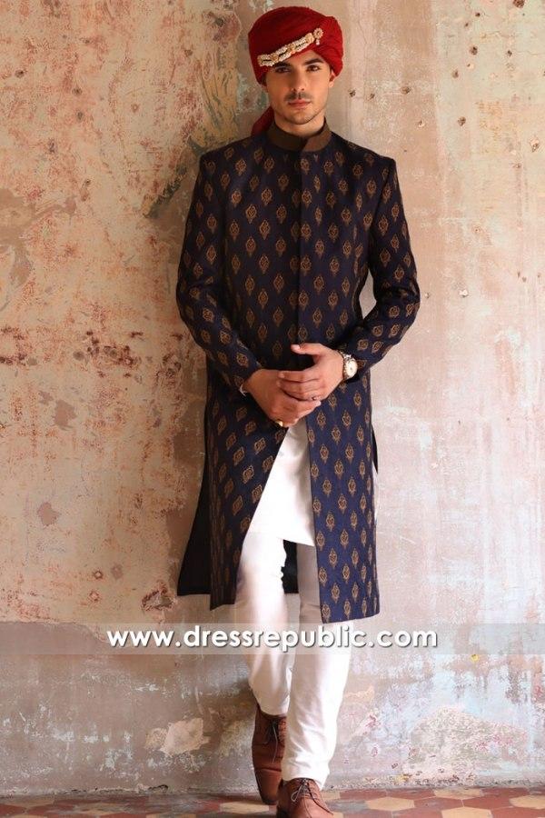 DRM5596 Pakistani Designer Sherwani Fall Winter 2021 Collection Ismail Farid