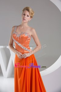 Special Orange Red Prom Bridesmaid Dress with Rhinestones
