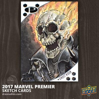 Ghost Rider - Marvel Premier 2017 Sketch Card