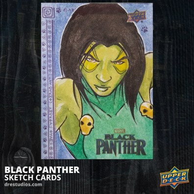 andrei-ausch-black-panther-sketch-card-gamora-guardians-of-the-galaxy