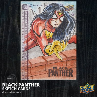 andrei-ausch-black-panther-sketch-card-spider-woman