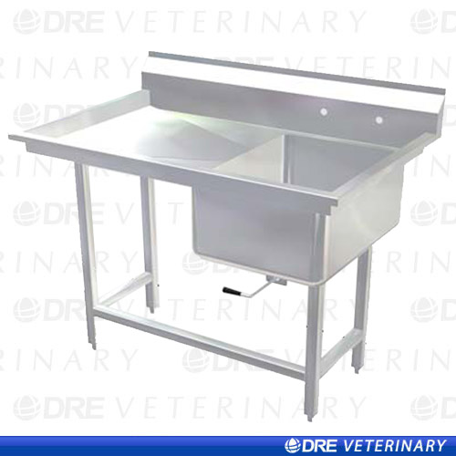 Stainless Steel Utility Sink with Drainboard