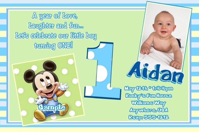 Free Baby Boy First Birthday Invitation Cards – Safari First Birthday Invitations