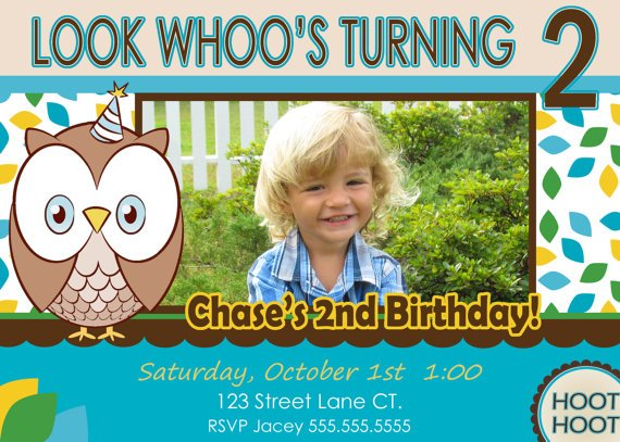 birthday invitation 2 years old boy